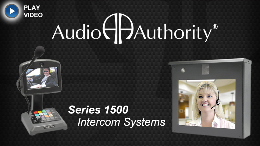 Presenting Series 1500 Intercom for Drive-up Transactions