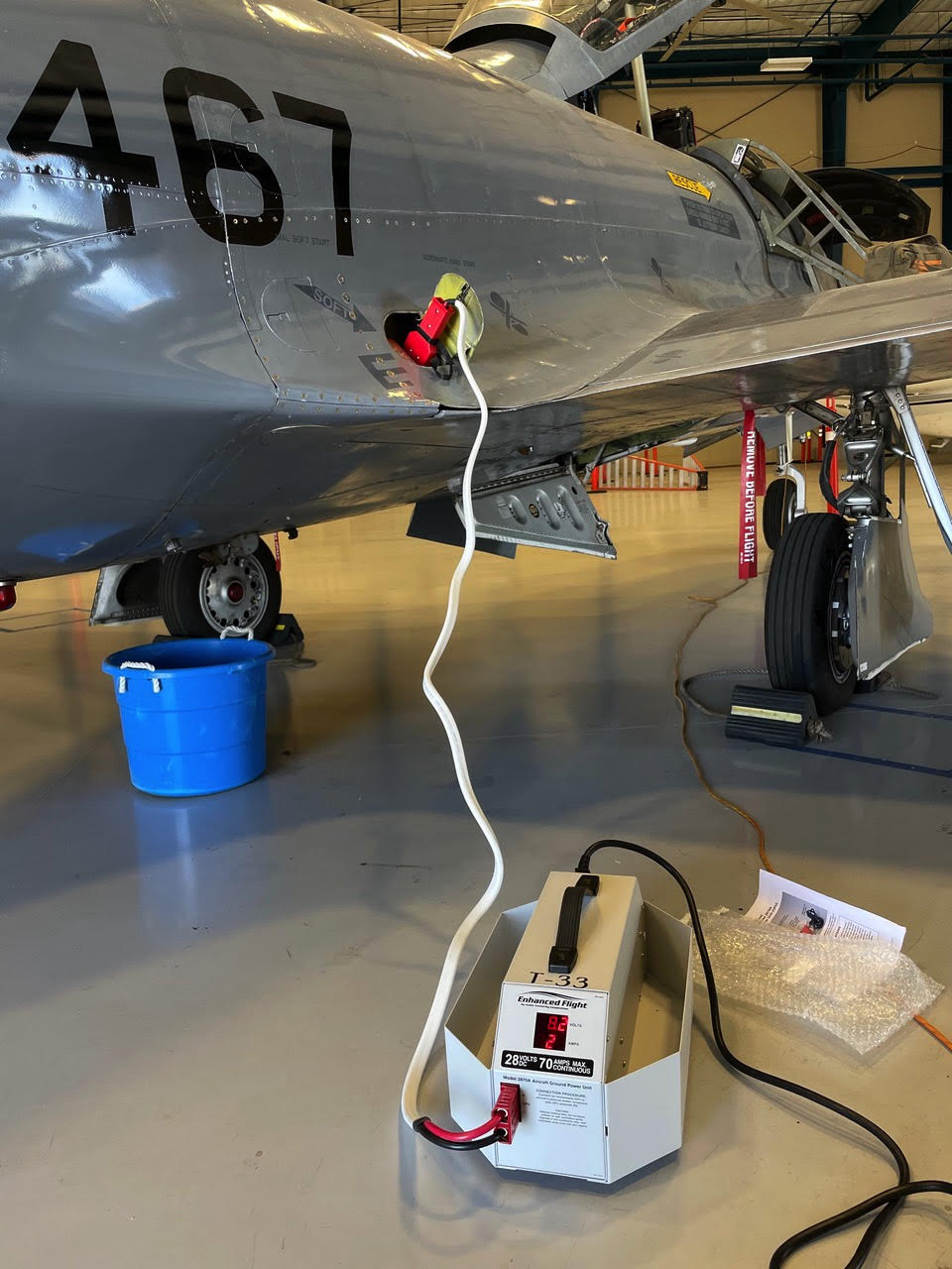 Shooting star aircraft connected to Enhanced Flight GPU