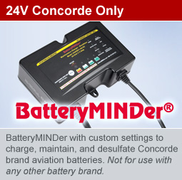 BatteryMINDer for Concorde Aviation Batteries