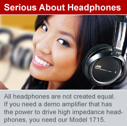 Serious Headphone Demonstrations