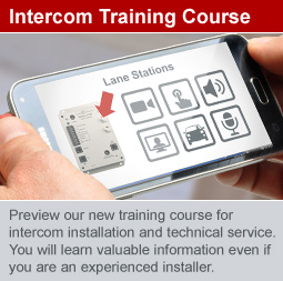 New Training Course for Series 1500 Intercom
