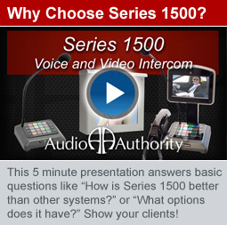 New Presentation: Series 1500 Intercom System Overview
